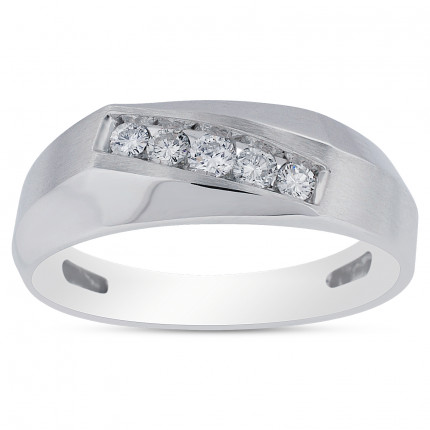 GWB63119W | White Gold Mens Ring | Payroll Jewelry