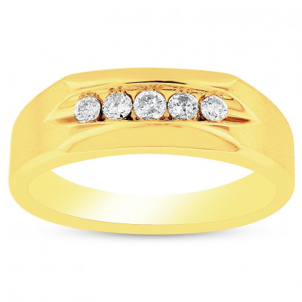 GWB63269Y | Yellow Gold Mens Ring. | Payroll Jewelry
