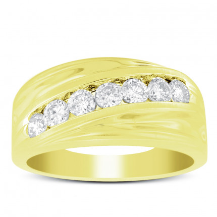 GWB7577Y | Yellow Gold Mens Ring. | Payroll Jewelry