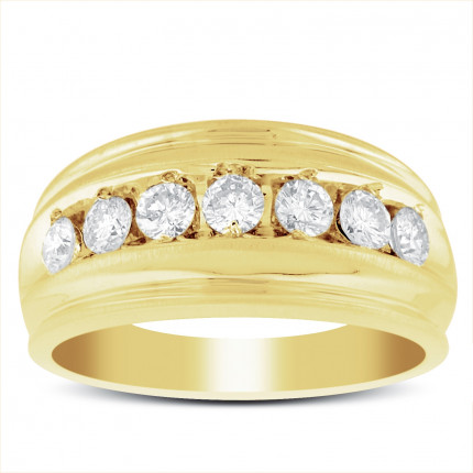 GWB7655Y | Yellow Gold Mens Ring. | Payroll Jewelry