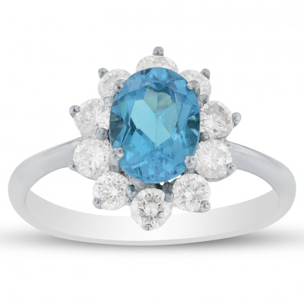 LCR285BTW | Gemstone Ladies Ring | Payroll Jewelry
