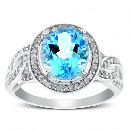 LCR72125W | Gemstone Ladies Ring | Payroll Jewelry