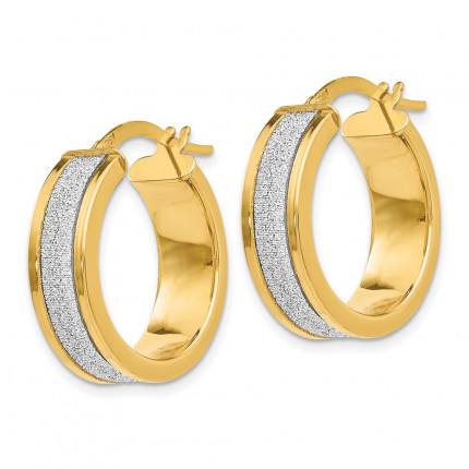 LE132 | Gold Hoop Earrings | Payroll Jewelry
