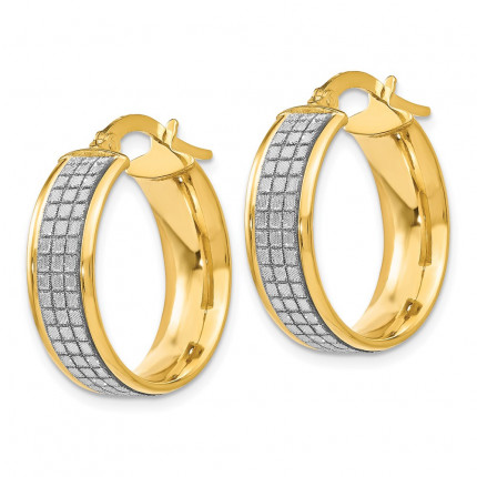 LE1682 | Gold Hoop Earrings | Payroll Jewelry