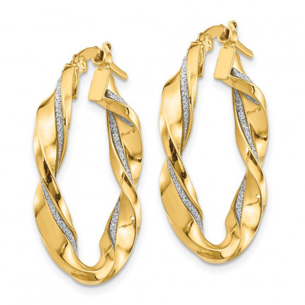 LE1836 | Gold Hoop Earrings | Payroll Jewelry