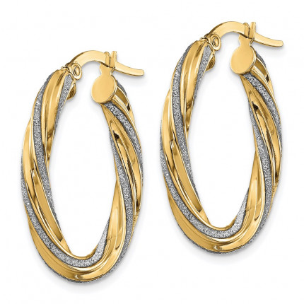 LE1850 | Gold Hoop Earrings | Payroll Jewelry