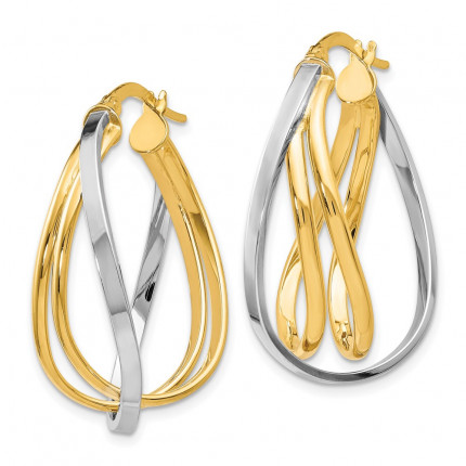 LE312 | Gold Hoop Earrings | Payroll Jewelry