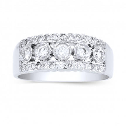 LR31PLT | White Gold Ladies Ring | Payroll Jewelry