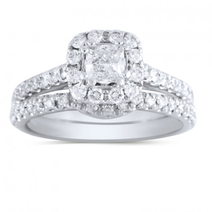 NEIL-LANE-PR2 | Halo Wedding Set Engagement Ring | Payroll Jewelry