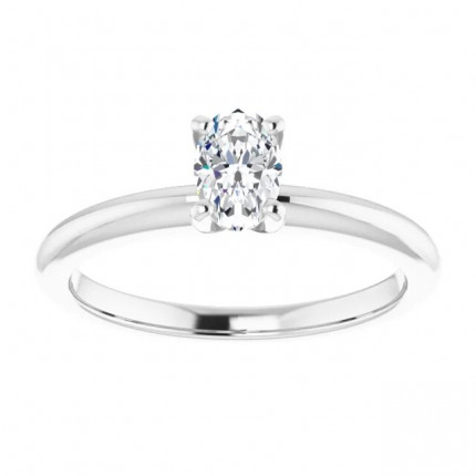 OV450W | Solitaire Engagement Ring | Payroll Jewelry