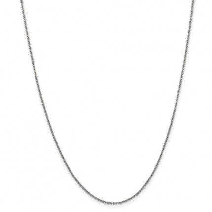 1.4mm Cable Chain | 14K White Gold | 20 Inch