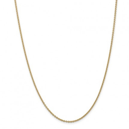 1mm Cable Chain | 14K Yellow Gold | 22 Inch