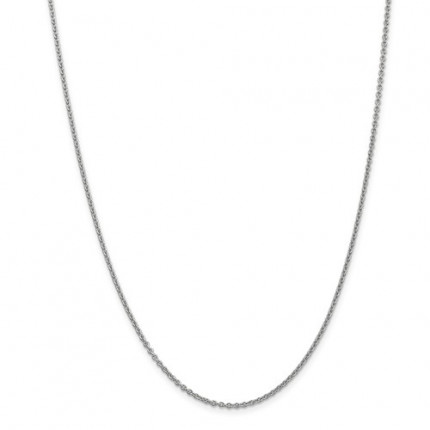 1.8mm Cable Chain | 14K White Gold | 24 Inch