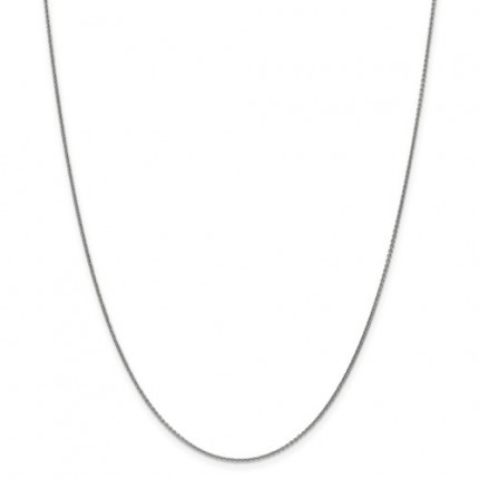 1mm Cable Chain | 14K White Gold | 18 Inch