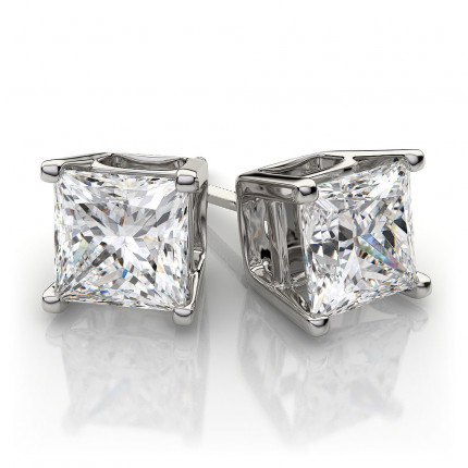 ER475PRW | White Gold Diamond Ear Studs | Payroll Jewelry