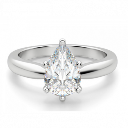 PS6100W | Solitaire Engagement Ring | Payroll Jewelry