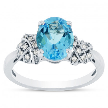 LCR1871W | Gemstone Ladies Ring | Payroll Jewelry