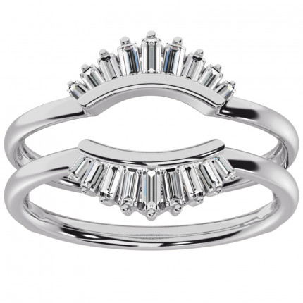 RG63803W | White Gold Ring Guard | Payroll Jewelry