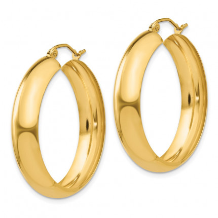 S1168 | Gold Hoop Earrings | Payroll Jewelry