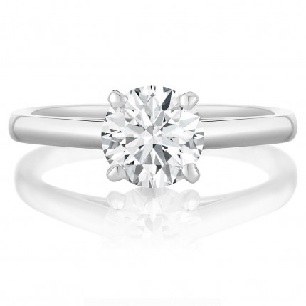 BR440W | Solitaire Engagement Ring | Payroll Jewelry