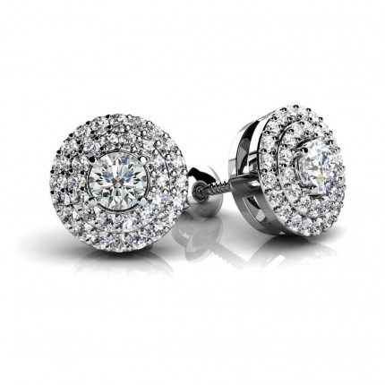 ST970-4MM | Cluster Earrings | Payroll Jewelry