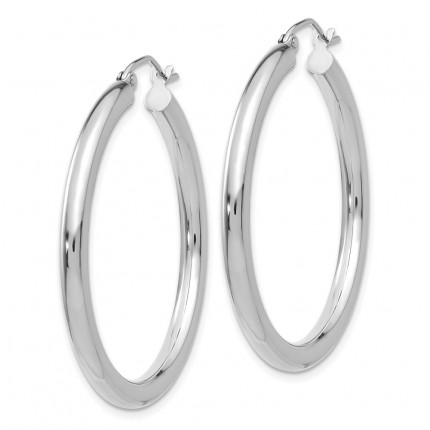 T848L | Gold Hoop Earrings | Payroll Jewelry