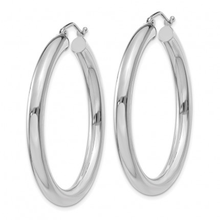 T858L | Gold Hoop Earrings | Payroll Jewelry