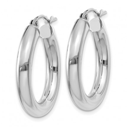 T861L | Gold Hoop Earrings | Payroll Jewelry