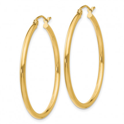 T913L | Gold Hoop Earrings | Payroll Jewelry