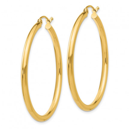 T925L | Gold Hoop Earrings | Payroll Jewelry
