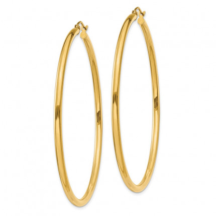 T929L | Gold Hoop Earrings | Payroll Jewelry