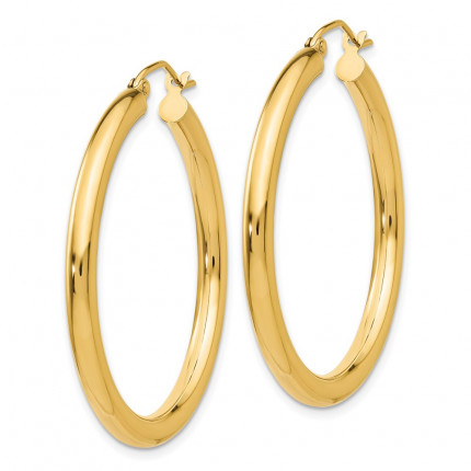 T935L | Gold Hoop Earrings | Payroll Jewelry
