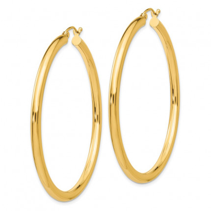 T943L | Gold Hoop Earrings | Payroll Jewelry