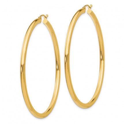 T945L | Gold Hoop Earrings | Payroll Jewelry