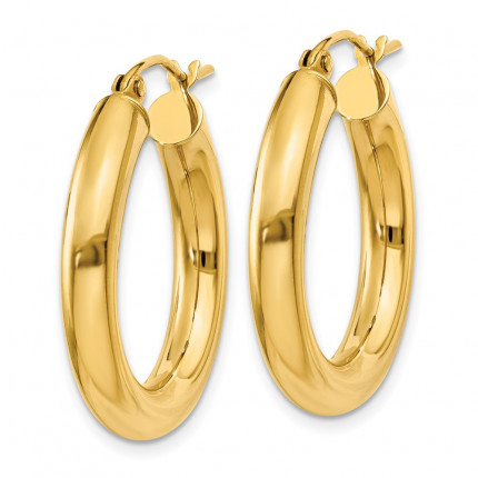 T950L | Gold Hoop Earrings | Payroll Jewelry