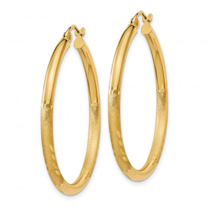 TC242 | Gold Hoop Earrings | Payroll Jewelry