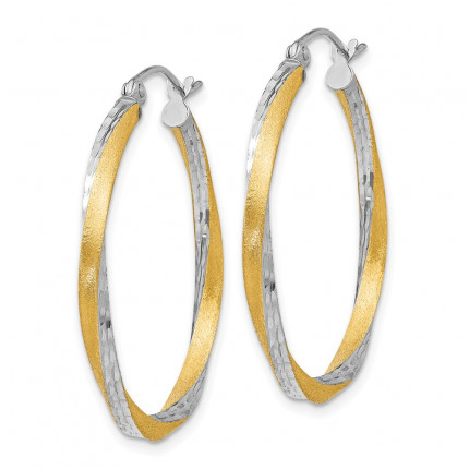 TC437 | Gold Hoop Earrings | Payroll Jewelry
