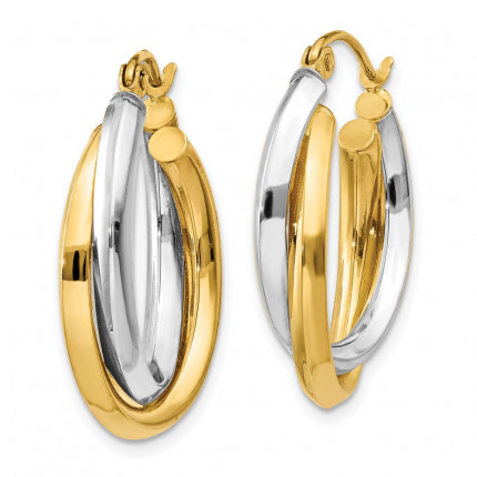 TM398 | Gold Hoop Earrings | Payroll Jewelry