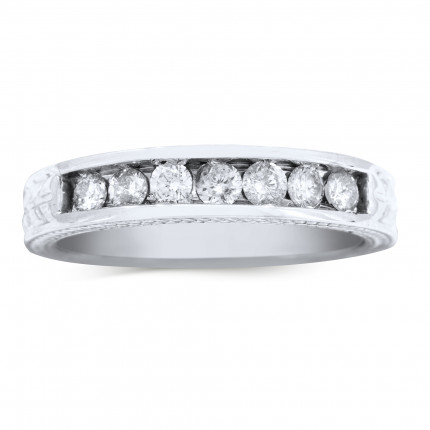 WB7285W | White Gold Band | Payroll Jewelry