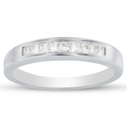 WB9-33PRW | White Gold Band | Payroll Jewelry