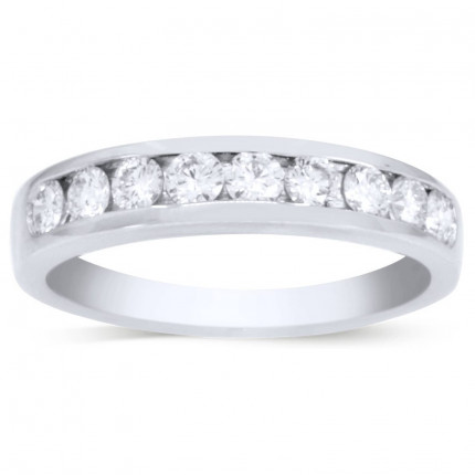 WB9552PLT | White Gold Band | Payroll Jewelry