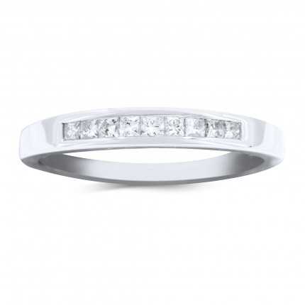 WBP9-25W | White Gold Band | Payroll Jewelry