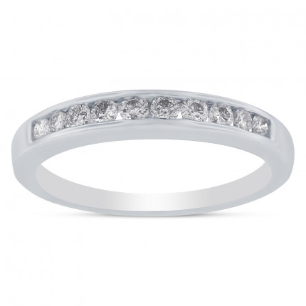 WBR10-25W | White Gold Band | Payroll Jewelry