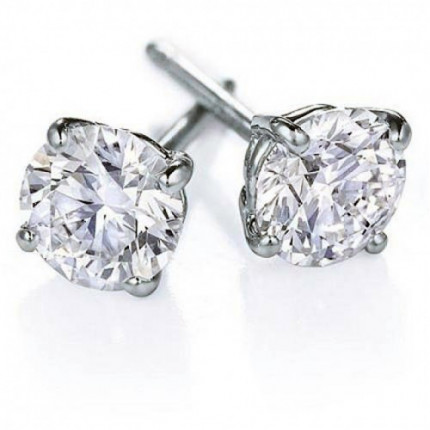 ER4150W | White Gold Diamond Ear Studs | Payroll Jewelry
