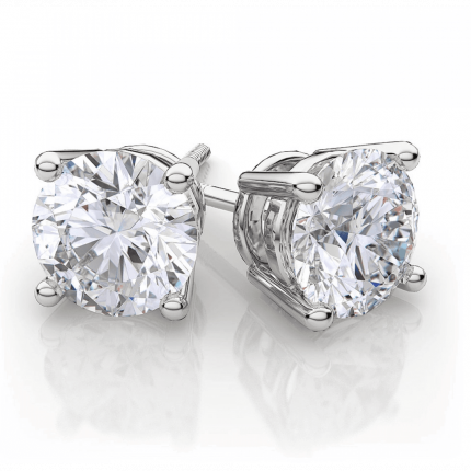 ER475W | White Gold Diamond Ear Studs | Payroll Jewelry