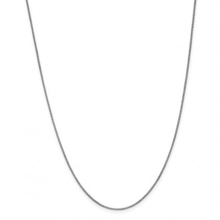 1.1mm Box Chain | 14K White Gold | 18 Inch