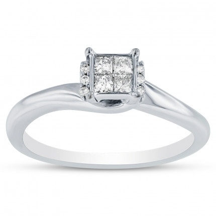 WLR10108W | White Gold Ladies Ring | Payroll Jewelry
