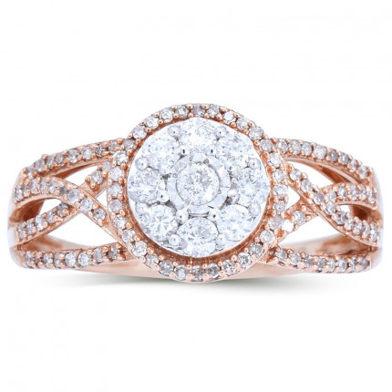 WLR141P   Payroll Jewelry   Halo Engagement Ring
