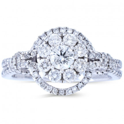 WLR611W | Halo Rings | Payroll Jewelry