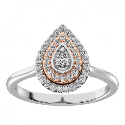 WLR61823WP | Halo Diamond Ring | Payroll Jewelry